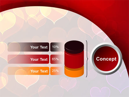 Heart Shaped Lights PowerPoint Template Slide 11