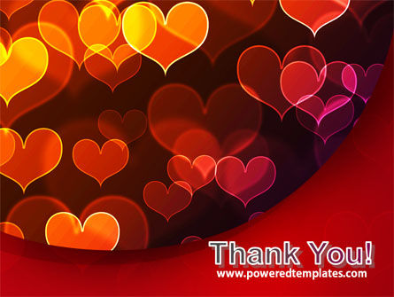 Heart Shaped Lights PowerPoint Template Slide 20