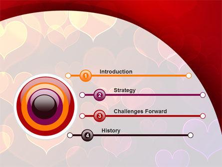 Heart Shaped Lights PowerPoint Template Slide 3