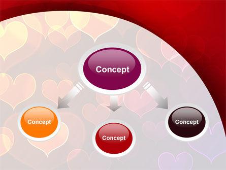 Heart Shaped Lights PowerPoint Template Slide 4