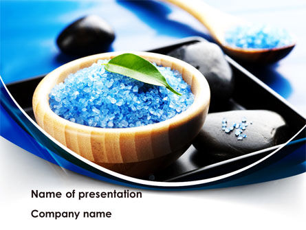 Blue Bath Salt PowerPoint Template, 08325, Health and Recreation — PoweredTemplate.com
