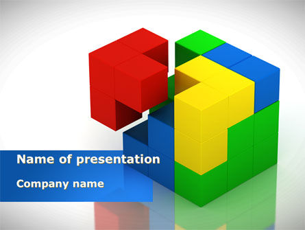 Fitting Pieces PowerPoint Template, 08326, Business Concepts — PoweredTemplate.com