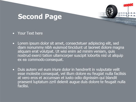 Tire Change PowerPoint Template, Slide 2, 08327, Cars and Transportation — PoweredTemplate.com