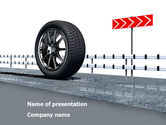 Cars and Transportation: Tire Change PowerPoint Template #08327