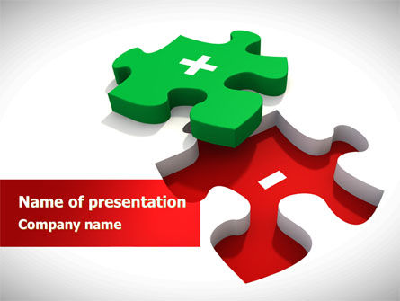 Jigsaw Plus PowerPoint Template, 08328, Consulting — PoweredTemplate.com