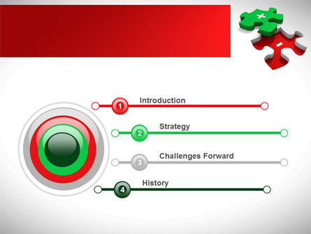 Jigsaw Plus PowerPoint Template Slide 3