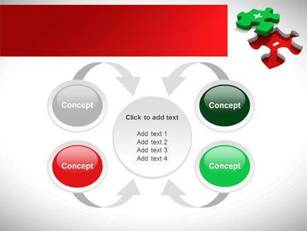 Jigsaw Plus PowerPoint Template Slide 6