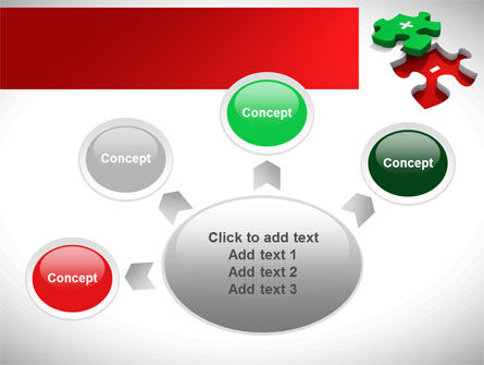 Jigsaw Plus PowerPoint Template Slide 7