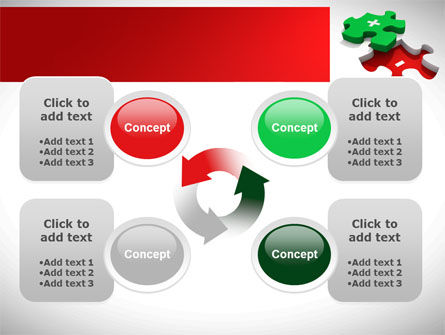 Jigsaw Plus PowerPoint Template Slide 9