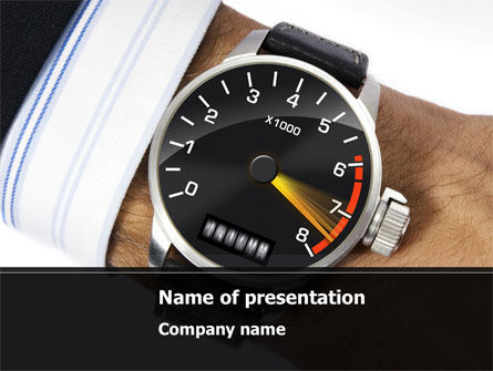 Clock Timer PowerPoint Template, 08329, Business Concepts — PoweredTemplate.com