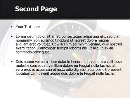 Clock Timer PowerPoint Template, Slide 2, 08329, Business Concepts — PoweredTemplate.com