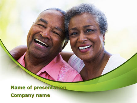 Elderly Spouse PowerPoint Template, 08332, People — PoweredTemplate.com