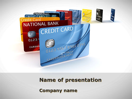 Financial/Accounting: Credit Card For Long Range Payment PowerPoint Template #08334