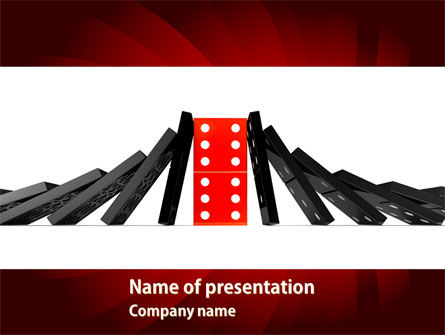 Consulting: Central Domino PowerPoint Template #08336