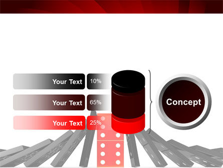 Central Domino PowerPoint Template Slide 11