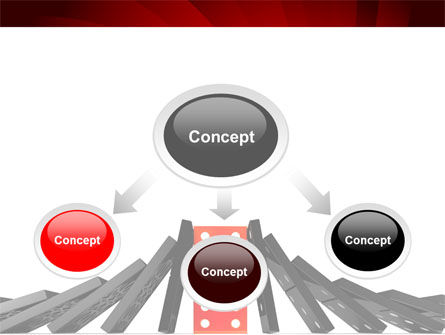 Central Domino PowerPoint Template, Slide 4, 08336, Consulting — PoweredTemplate.com