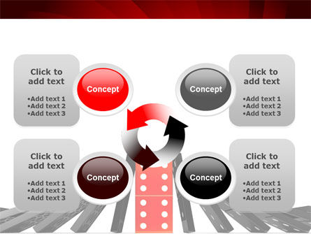 Central Domino PowerPoint Template Slide 9