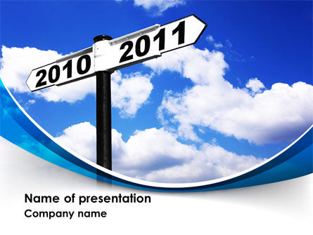From 2010 to 2011 PowerPoint Template, 08339, Business Concepts — PoweredTemplate.com