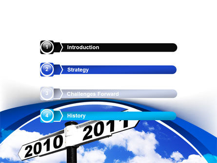 From 2010 to 2011 PowerPoint Template, Slide 3, 08339, Business Concepts — PoweredTemplate.com