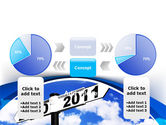 From 2010 to 2011 PowerPoint Template#11