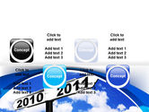From 2010 to 2011 PowerPoint Template#19