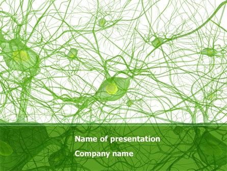Nervous Tissue PowerPoint Template, 08340, Medical — PoweredTemplate.com