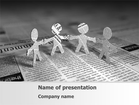 Religious/Spiritual: Paper People PowerPoint Template #08341
