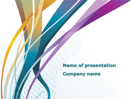 Color Ribbons PowerPoint Template, 08342, Abstract/Textures — PoweredTemplate.com