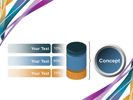 Color Ribbons PowerPoint Template Slide 11