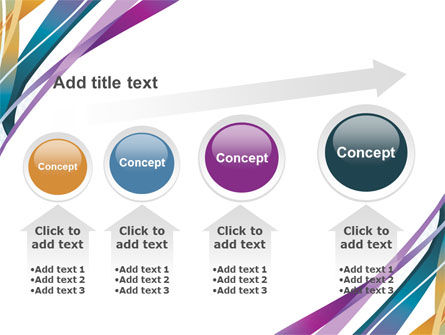 Color Ribbons PowerPoint Template Slide 13