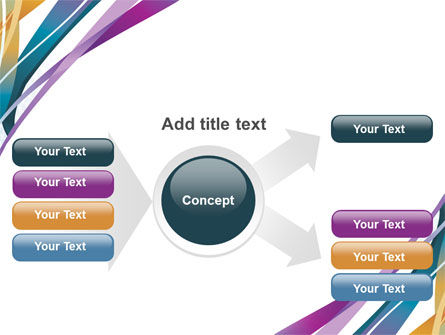 Color Ribbons PowerPoint Template Slide 14