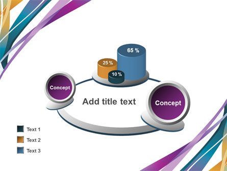 Color Ribbons PowerPoint Template Slide 16