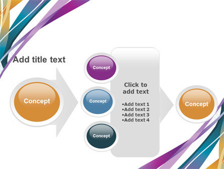 Color Ribbons PowerPoint Template Slide 17