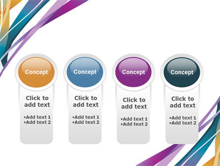 Color Ribbons PowerPoint Template Slide 5