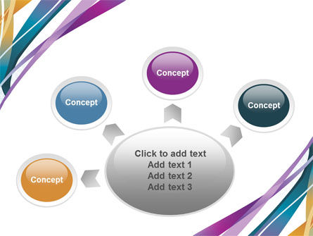 Color Ribbons PowerPoint Template Slide 7