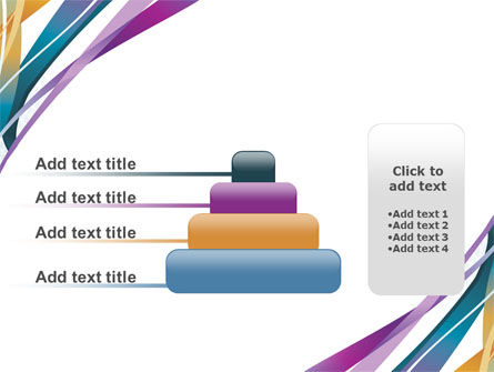 Color Ribbons PowerPoint Template Slide 8