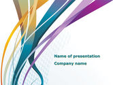 Abstract/Textures: Color Ribbons PowerPoint Template #08342
