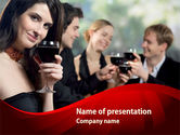 People: Drink Party PowerPoint Template #08343
