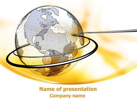 Yellow Globe PowerPoint Template, 08345, Global — PoweredTemplate.com