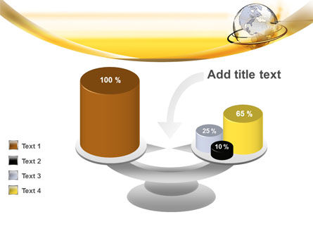 Yellow Globe PowerPoint Template Slide 10