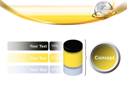 Yellow Globe PowerPoint Template Slide 11