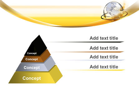 Yellow Globe PowerPoint Template Slide 12