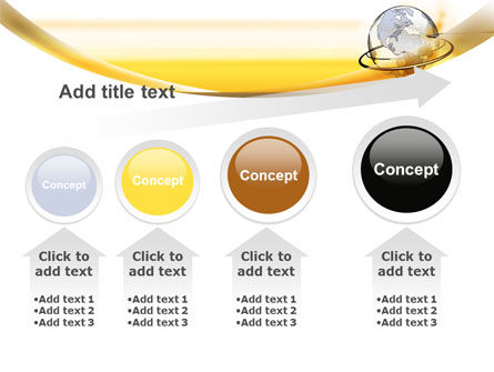 Yellow Globe PowerPoint Template Slide 13