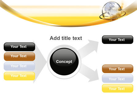Yellow Globe PowerPoint Template Slide 14