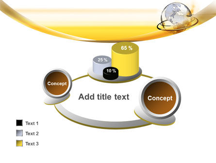 Yellow Globe PowerPoint Template Slide 16