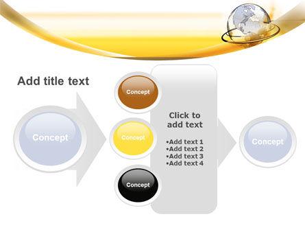Yellow Globe PowerPoint Template Slide 17