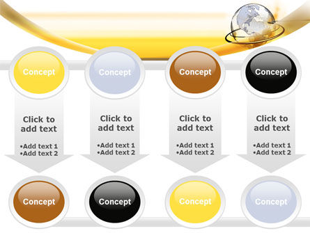 Yellow Globe PowerPoint Template Slide 18