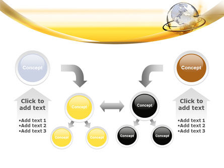 Yellow Globe PowerPoint Template Slide 19