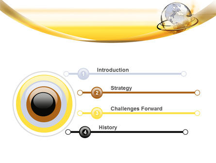 Yellow Globe PowerPoint Template Slide 3