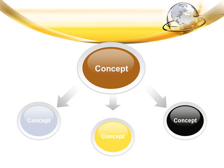 Yellow Globe PowerPoint Template Slide 4